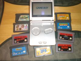 My Game boy advance SP by ComannderrX
