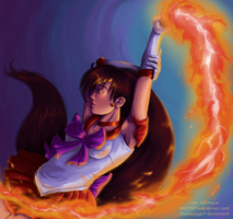 Sailor Mars, Fire soul by thehappygirl