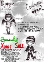 Doodle chibi CMs OPEN ~ with special Xmas SALE by KuroHana-dono