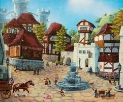 Old Town versus New Town by Holly-Toadstool