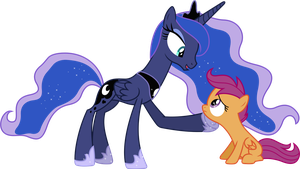 Princess Luna Comforts Scootaloo by 90Sigma