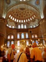 Inside the Sultan Ahmed Mosque by jacobjellyroll