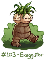 103 - Exeggutor by oddsocket