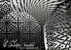 25 Op Art + Geometric Brushes by gojol23