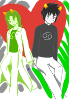 Nepeta X Karkat by HurricaneDragon