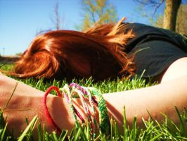 Sleeping In The Grass by VirginiaRoundy