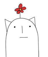 Flower Cat by Teebohne