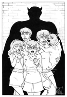 S-D: Scooby Gang - Ink by ScarletMoonbeam