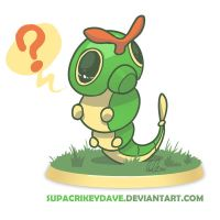 Pokedexy Day 01 -- Caterpie by SupaCrikeyDave