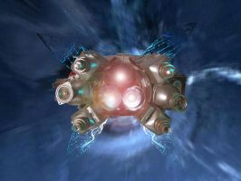 Junk Space Ship Wormhole by TheGoddess908