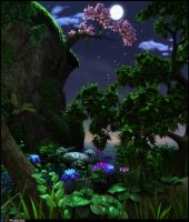 nature at night by dart12001