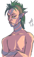 Llanowar Elf-- Quick Sketch by Mondracon
