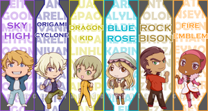 Chibi T+B Heroes bookmarks by AznCeestar