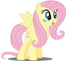 Fluttershy is Happy by SpellboundCanvas