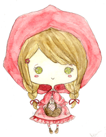 Chibi Red Riding Hood by Litchling