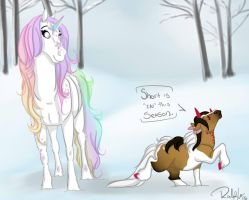 Opal and Smores Shortness by DragonsFlameMagic