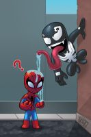 Spiderman VS Venom by thedarkgecko