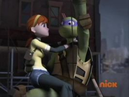 Tmnt 2012-Don and April 6 by aamlfan04