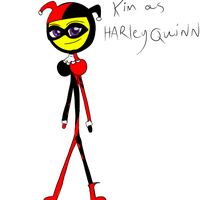 kim as harley Quinn  by Demonic-stickfigures