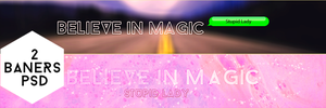Believe In Magic Banners by Stupid--Lady