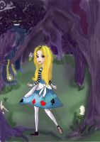 Alice in the Woods by MadAsAHatter15