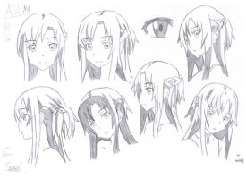 Asuna Study by Stades-Drawing