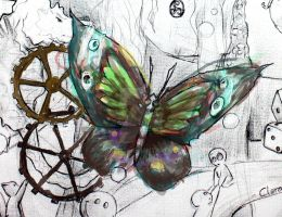 Mariposa -detalle de In my world- by saetiz