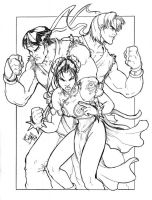 Ryu, Chun-Li, and Ken by ComfortLove