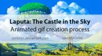 Laputa: The Castle in the Sky - Animated gif by Syntetyc