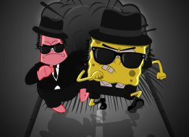 SPONGEBOB - BLUES BROTHERS 01A by Sensei-kun