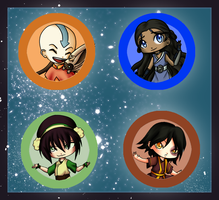 Avatar The Last Airbender Buttons by Lyndarsia