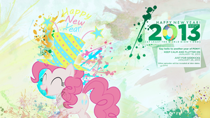 Happy New Year! - Pinkie Pie rings in 2013 by AdrianImpalaMata