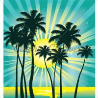 Beach Sun  Vector by kingofvectors