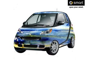Malibu Absraction Smart Car by RandySprout