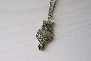 All-knowing Owl Necklace by foowahu-etsy