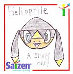 Shiny Helioptile on Notepad! by ryanthescooterguy