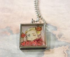King of Hearts resin pendant by sammich