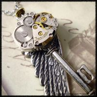 Steampunk Wing Key 0012 by SoulCatcher06