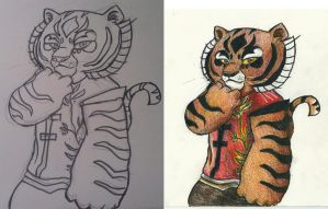 Tigress - lineart + picture colored by Fonora