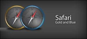 Icon - Safari - Gold and Blue by appart