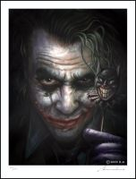 "Heath Ledger, ""The Joker"" by Awtew"