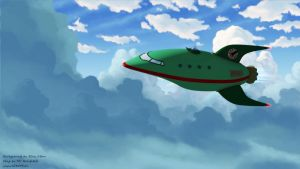 Planet Express Ship by MrRonsfield