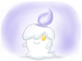 A wild Litwick Appeared by AquaMoonlight