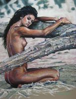 Nude On Beach by freya50