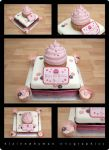 Cupcake cake by elainewhy