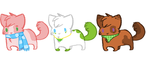Cute Kitty Adopts 3/3 Available by Kyarii-chan