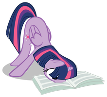 Twilight Reading The Foul Free Press Vector by MLP-Scribbles