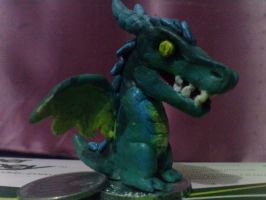 Vicious Tealy Sculpture by rosedragoness