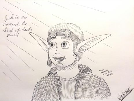 Inktober#14: Playing Jak X for the first time by KlarkKentThe3rd
