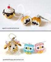 Ice Cream Cupcake Charm + Red Bean Buns Trade by AgentRose